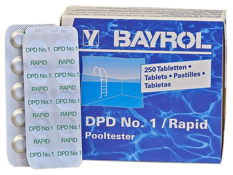 250 bayrol testtabletten dpd 1 chlor wert f r pooltester. Black Bedroom Furniture Sets. Home Design Ideas