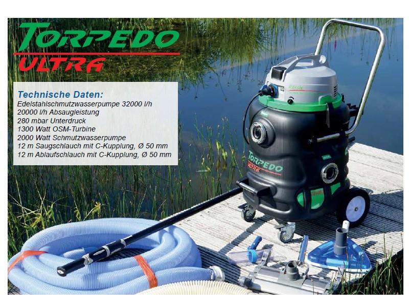 torpedo ultra teichschlammsauger zur teichreinigung. Black Bedroom Furniture Sets. Home Design Ideas