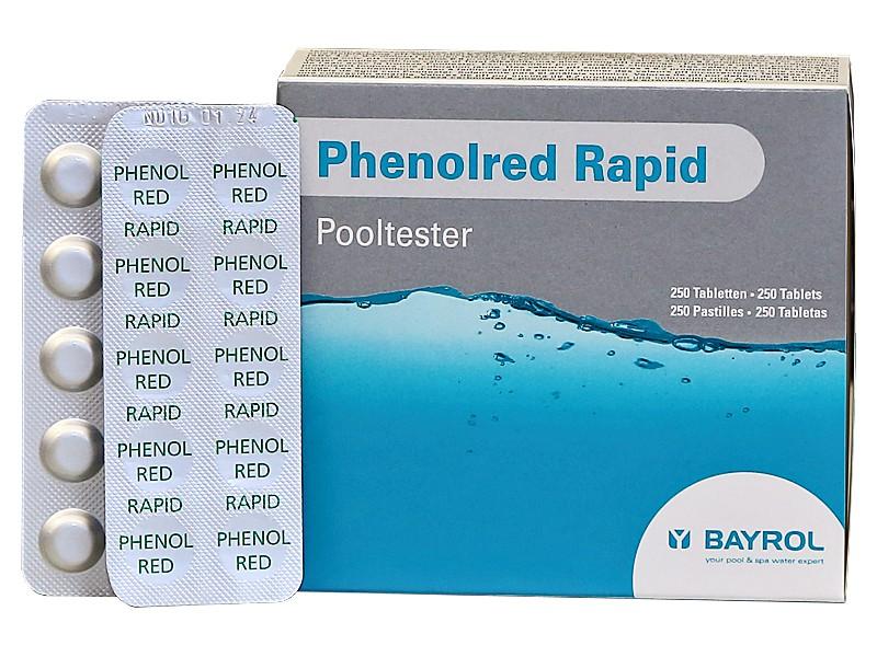250 bayrol testtabletten phenol red ph wert f r pooltester - Ph wert senken pool hausmittel ...