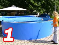 mazide aufblasbare schwimmbadabdeckung rundbecken f r pools poolabdeckung aufblasbare abdeckung. Black Bedroom Furniture Sets. Home Design Ideas